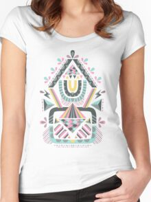 ethnic abstraction Women's Fitted Scoop T-Shirt