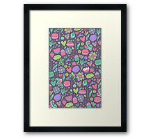 Macarons and flowers Framed Print