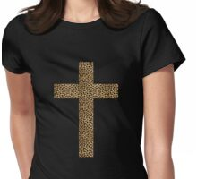 Leopard cross Womens Fitted T-Shirt