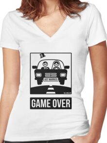 Just Married – Game Over (2C) Women's Fitted V-Neck T-Shirt