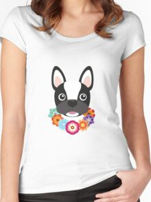 French Bulldog Women's Fitted Scoop T-Shirt