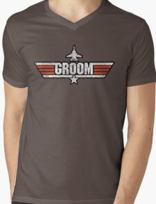 Top Gun Style Bachelor / Stag Party Shirt (Groom) Mens V-Neck T-Shirt