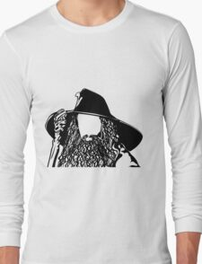 Ian as The Grey Wizard vacant expression Long Sleeve T-Shirt