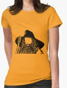 Ian as The Grey Wizard vacant expression Womens Fitted T-Shirt