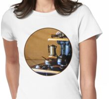 Coffeepot on Stove Womens Fitted T-Shirt