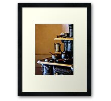 Coffeepot on Stove Framed Print