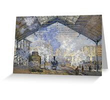 1877-Claude Monet-The Saint-Lazare Station-75 x 104 Greeting Card