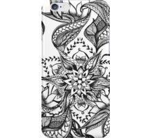 Modern black and white floral mandala illustration iPhone Case/Skin