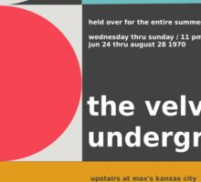 The Velvet Underground concert print Sticker