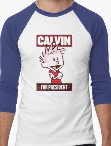 Calvin For President Men's Baseball ¾ T-Shirt