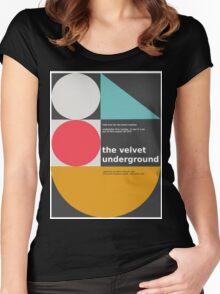 The Velvet Underground concert print Women's Fitted Scoop T-Shirt