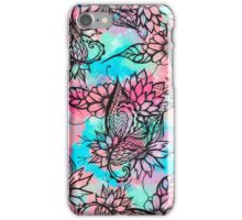 Modern floral watercolor hand drawn fall trend iPhone Case/Skin