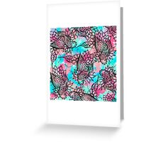 Modern floral watercolor hand drawn fall trend Greeting Card