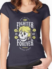 Fighter Forever Ken Women's Fitted Scoop T-Shirt