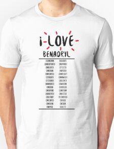 I Love Benedict Cumberbatch Unisex T-Shirt