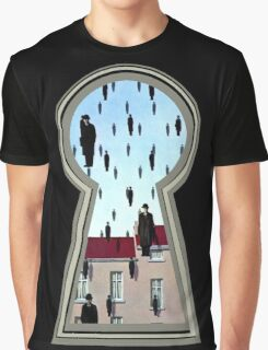 """Magritte from the lock"" Graphic T-Shirt"