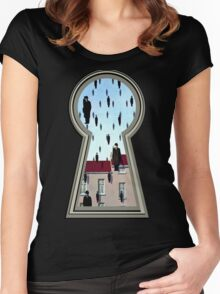 """Magritte from the lock"" Women's Fitted Scoop T-Shirt"