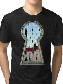 """Magritte from the lock"" Tri-blend T-Shirt"