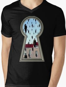 """""""Magritte from the lock"""" Mens V-Neck T-Shirt"""