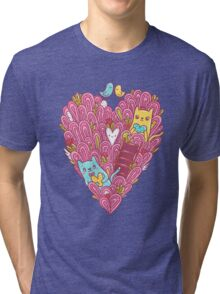 Valentine's cats Tri-blend T-Shirt
