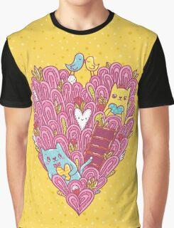 Valentine's cats Graphic T-Shirt