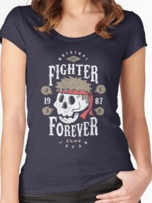 Fighter Forever Ryu Women's Fitted Scoop T-Shirt