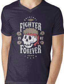 Fighter Forever Ryu Mens V-Neck T-Shirt