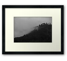 Mountains of Jerusalem in a foggy day Framed Print