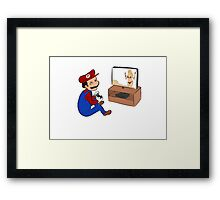 Mario playing gta Framed Print