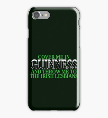 Funny Irish beer and lesbians iPhone Case/Skin