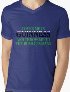 Funny Irish beer and lesbians Mens V-Neck T-Shirt