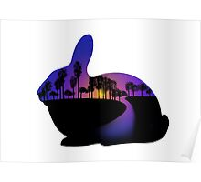 Sunset  Rabbit  Poster