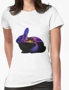 Sunset  Rabbit  Womens Fitted T-Shirt