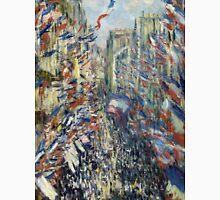1878-Claude Monet-The Rue Montorgueil in Paris, Celebration of June 30, 1878-50 x 81 Unisex T-Shirt