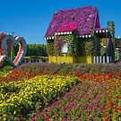 United Arab Emirates. Dubai. Miracle Garden. Flower Houses Alley. by vadim19