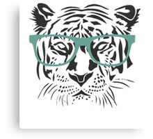 Geeky Tiger Canvas Print