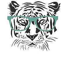 Geeky Tiger Photographic Print