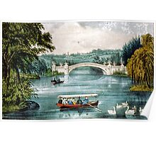 Central Park-the Bridge - 1907 - Currier & Ives Poster