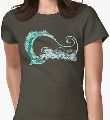 Mermaid on the waves Womens Fitted T-Shirt