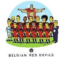 Belgian Red Devils Photographic Print