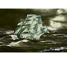 A Clipper Ship in Full Sail Photographic Print