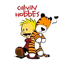Calvin And doll hobbes Photographic Print