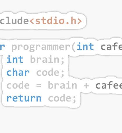 The Programmer function Sticker