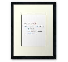 The Programmer function Framed Print