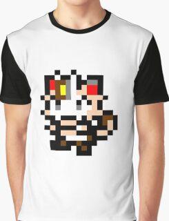 Pokemon 8-Bit Pixel Meowth 052 Graphic T-Shirt