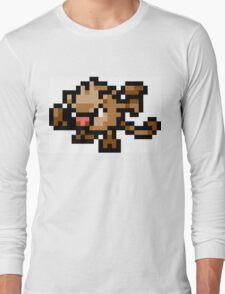 Pokemon 8-Bit Pixel Mankey 056 Long Sleeve T-Shirt