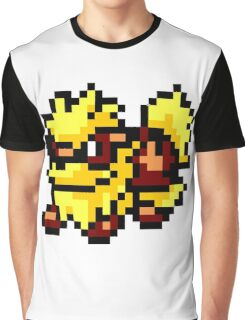 Pokemon 8-Bit Pixel Arcanine 059 Graphic T-Shirt
