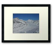Aletsch glacier in Switzerland Framed Print