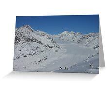 Aletsch glacier in Switzerland Greeting Card