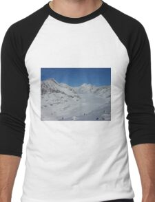 Aletsch glacier in Switzerland Men's Baseball ¾ T-Shirt